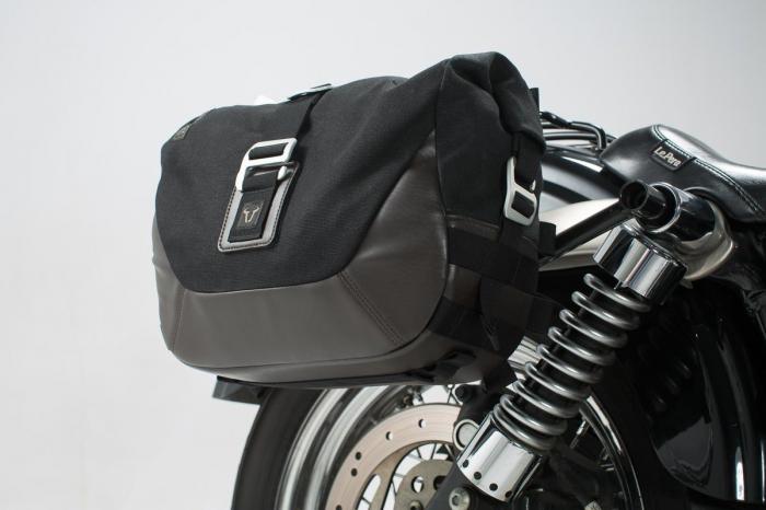 Legend Gear set geanta laterala - Negru Edition Dyna Street Bob (06-08), Low Rider (06-09). 1
