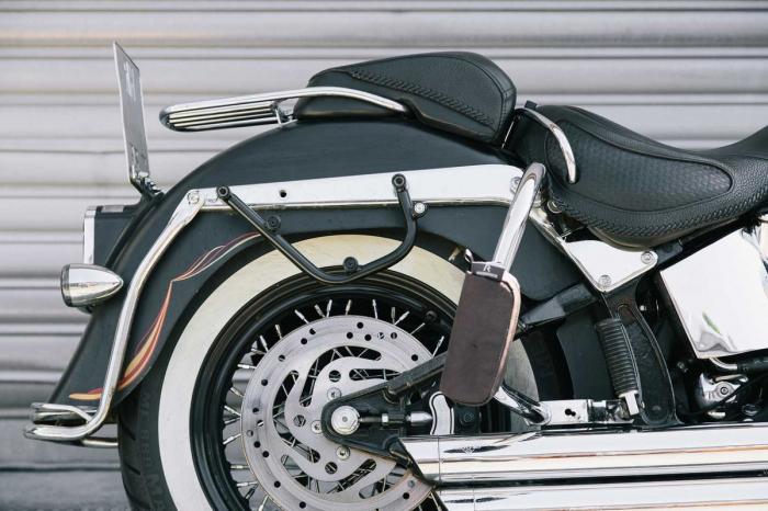 Legend Gear set geanta laterala - Negru Edition Harley Davidson Softail Deluxe, Heritage Classic. 3