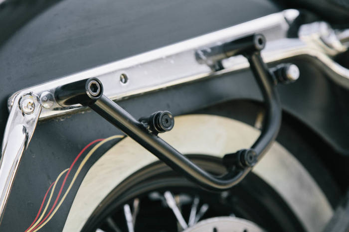 Legend Gear set geanta laterala - Negru Edition Harley Davidson Softail Deluxe, Heritage Classic. 4
