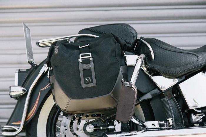 Legend Gear set geanta laterala - Negru Edition Harley Davidson Softail Fat Boy, Breakout. 1