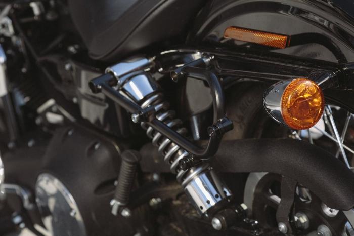 Legend Gear side bag set. Harley Davidson Dyna Fat Bob (09-). 3