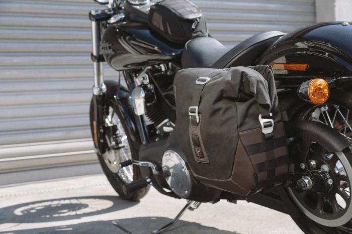Legend Gear side bag set. Harley Davidson Dyna Fat Bob (09-). 1