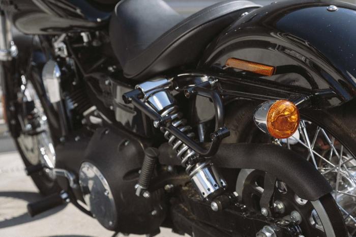 Legend Gear side bag set. Harley Davidson Dyna Fat Bob (09-). 2