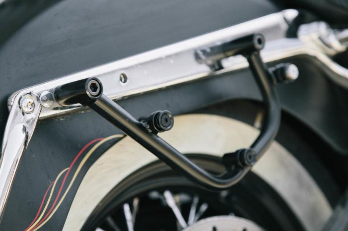 Legend Gear side bag set. Harley Davidson Softail Deluxe, Heritage Classic. 3