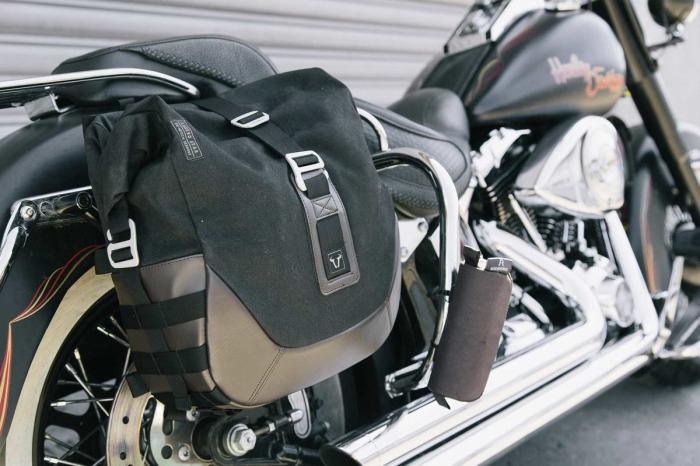 Legend Gear side bag set. Harley Davidson Softail Deluxe, Heritage Classic. 1