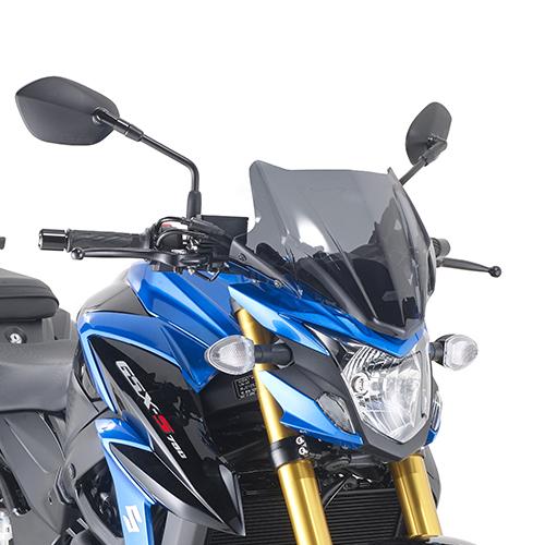 Parbriz fumuriu 28 x 36.5 cm (H x L) Suzuki GSX S750 (2017) 0