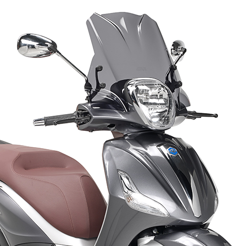 Parbriz fumuriu 29 x 45 cm (H x L) Piaggio Beverly 125ie-300ie (2010 - 2017) / Beverly 350 Sport Touring (2012 - 2017) 0