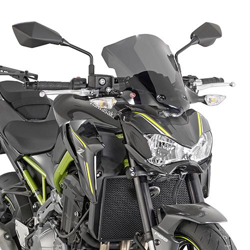 Parbriz fumuriu 37 x 32 cm (H x W) Kawasaki Z 900 (Kit montaj inclus) 0