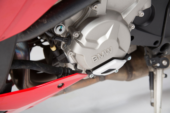 Protectie capac motor Negru/Argintiu. BMW S1000R / RR / XR. [1]