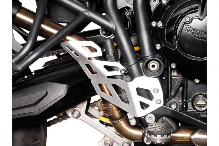 Protectie teava esapament DREAPTA Argintiu Triumph Tiger 800 models (10-). [1]