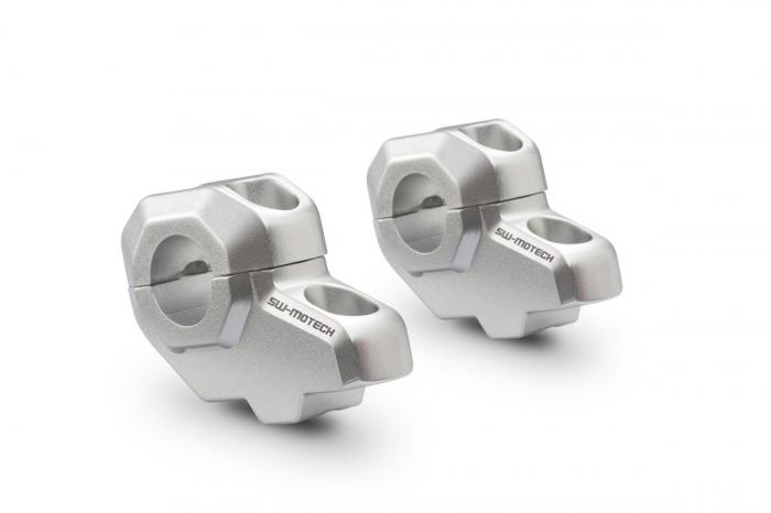 Relocare ghidon D. 22 mm (in sus: 30 mm , in spate: 21 mm) Argintiu [0]