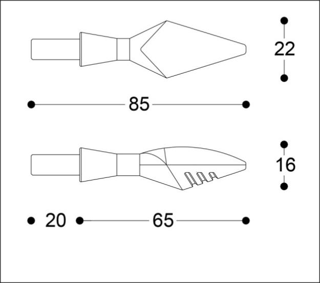 Semnalizatoare X-LED B-LUX NEGRE (pereche) 6