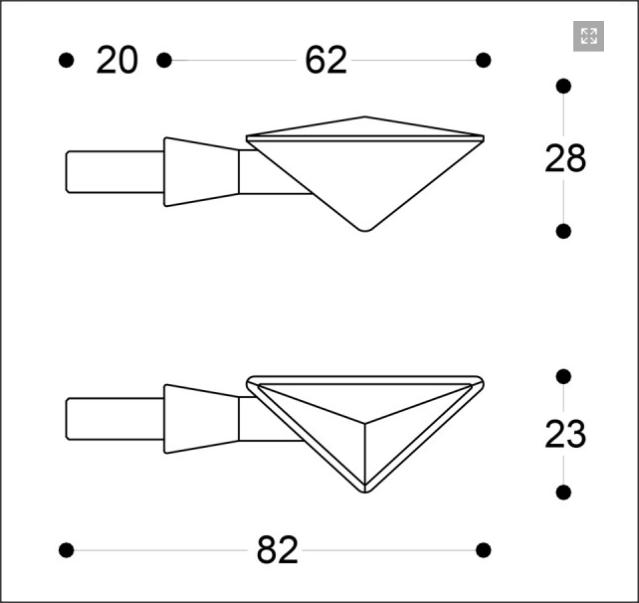 Semnalizatoare Z-LED B-LUX ALBASTRE (pereche) 8