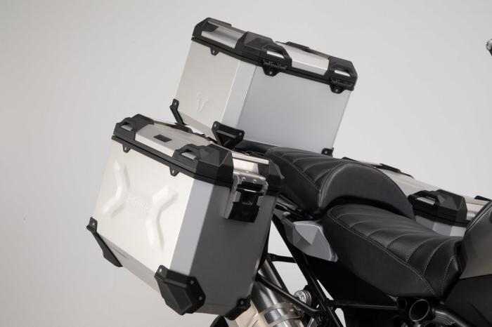 Set 3 cutii Adventure cu sistem fixare Argintiu. BMW R 1200 GS LC Adventure (16-). 1