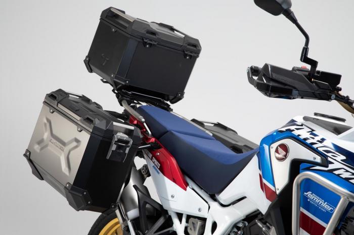 Set 3 cutii Adventure cu sistem fixare Argintiu. Honda CRF1000L Adventure Sports (18-). 1