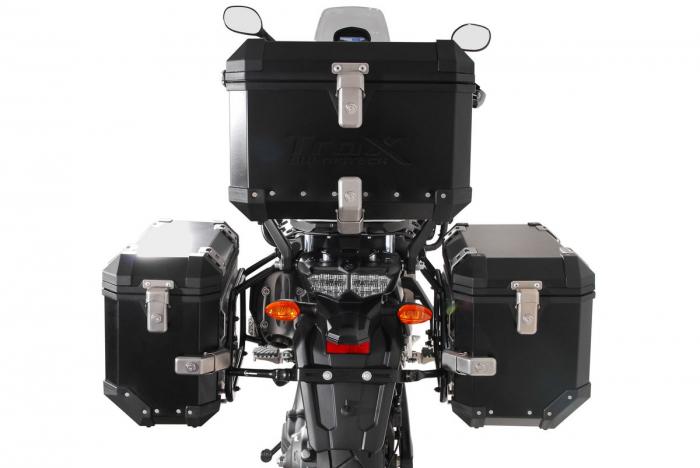 Set 3 cutii Adventure cu sistem fixare Argintiu. Yamaha XT1200Z Super Ténéré (10-). 2