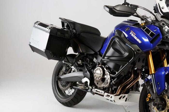 Set 3 cutii Adventure cu sistem fixare Argintiu. Yamaha XT1200Z Super Ténéré (10-). 1