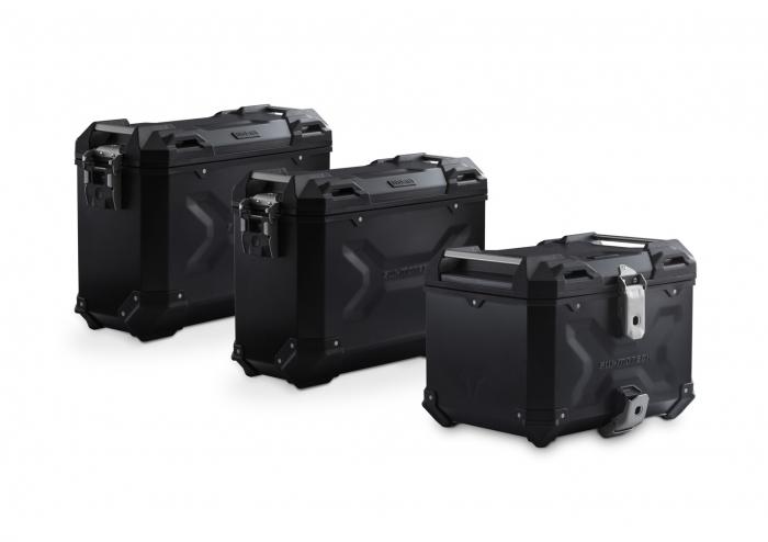 Set 3 cutii Adventure cu sistem fixare Negru. BMW F 800 / 700 / 650 GS (08-). 0