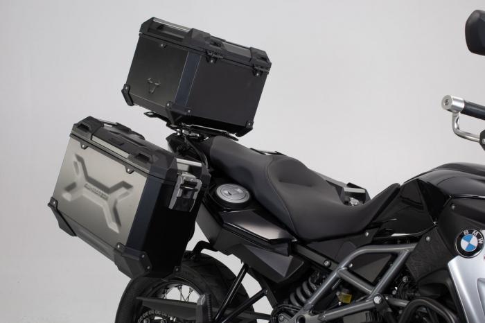 Set 3 cutii Adventure cu sistem fixare Negru. BMW F 800 / 700 / 650 GS (08-). 1