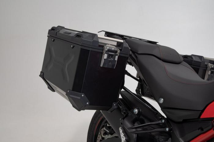 Set 3 cutii Adventure cu sistem fixare Negru Ducati Multistrada 1200/ 1260/ 950 [1]