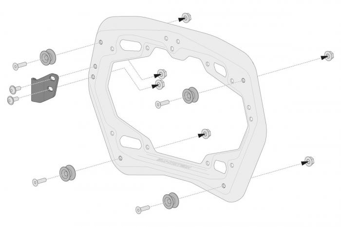 Set 3 cutii Adventure cu sistem fixare Negru Ducati Multistrada 1200/ 1260/ 950 [2]