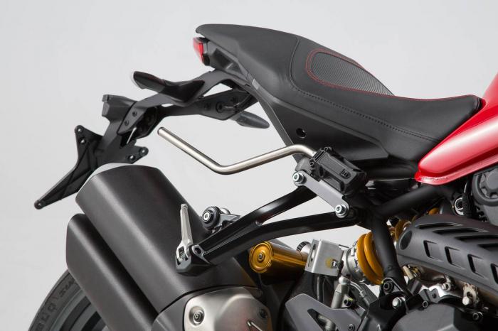 Set genti laterale Blaze cu sistem fixare H negru/gri Ducati Monster 1200 R (16-). [1]