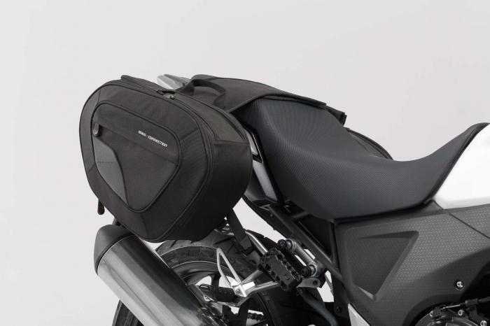 Set genti laterale Blaze cu sistem fixare H negru/gri Honda CB500X (13-). 0