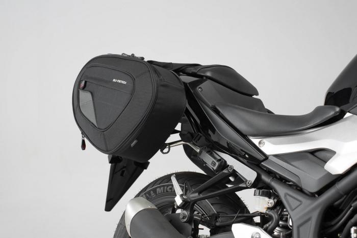 Set genti laterale Blaze cu sistem fixare H negru/gri Yamaha MT-03 (16-). 1