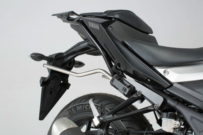 Set genti laterale Blaze cu sistem fixare H negru/gri Yamaha MT-03 (16-). 2