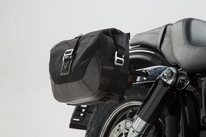Set genti laterale Legend Gear - Editie Neagru Harley-Davidson Dyna Fat Bob (08-). 2
