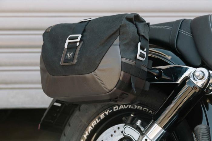 Set genti laterale Legend Gear - Editie Neagru Harley-Davidson Dyna Fat Bob (08-). 4