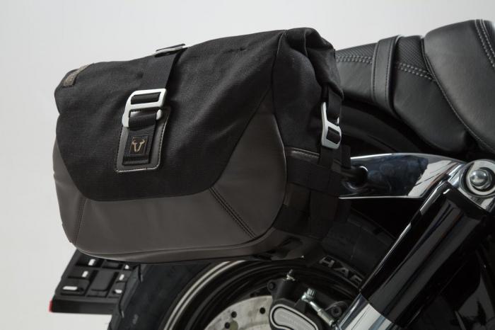 Set genti laterale Legend Gear - Editie Neagru Harley-Davidson Dyna Fat Bob (08-). 1
