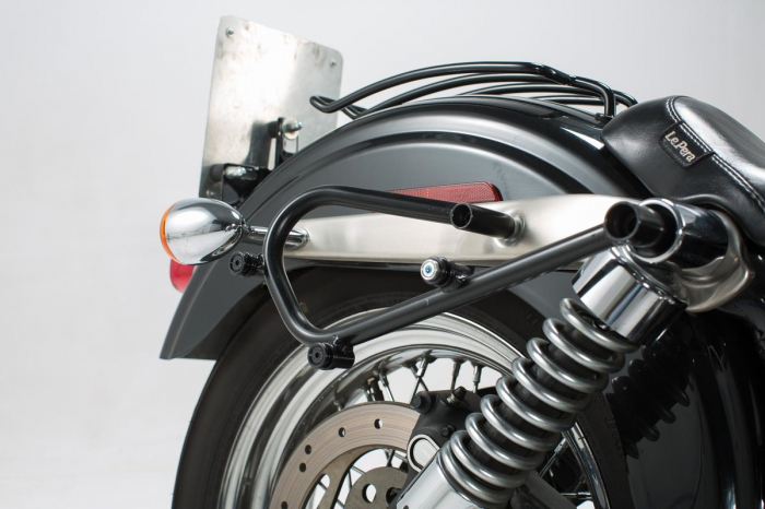 Set genti laterale Legend Gear - Editie Neagru Harley Davidson Dyna Wide Glide (06-08). 2