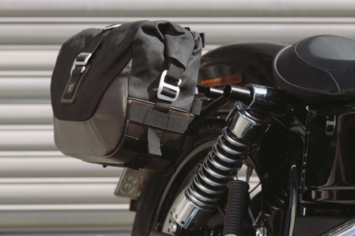 Set genti laterale Legend Gear - Editie Neagru Harley Davidson Dyna Wide Glide (09-17). 2