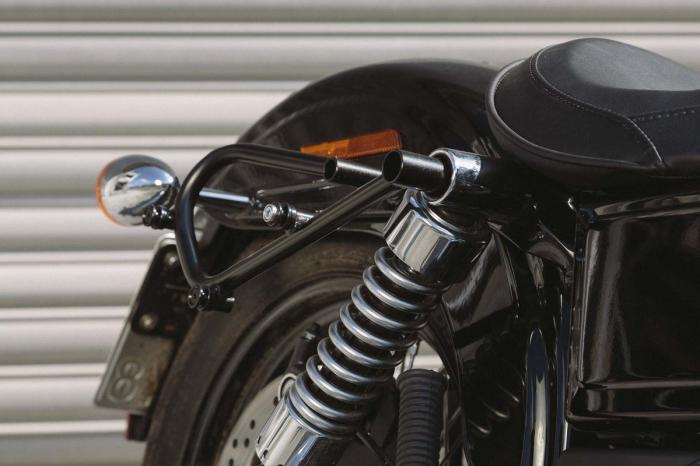 Set genti laterale Legend Gear - Editie Neagru Harley Davidson Dyna Wide Glide (09-17). 4