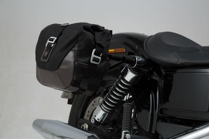 Set genti laterale Legend Gear - Editie Neagru Harley Davidson Dyna Wide Glide (09-17). 1