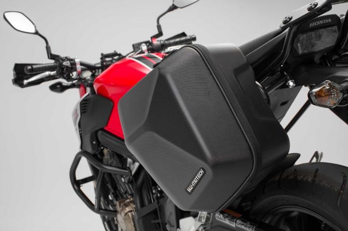Set genti laterale Urban ABS cu sistem fixare. 2x 16 l. Honda CB650F (14-) / CBR650F (16-). 2