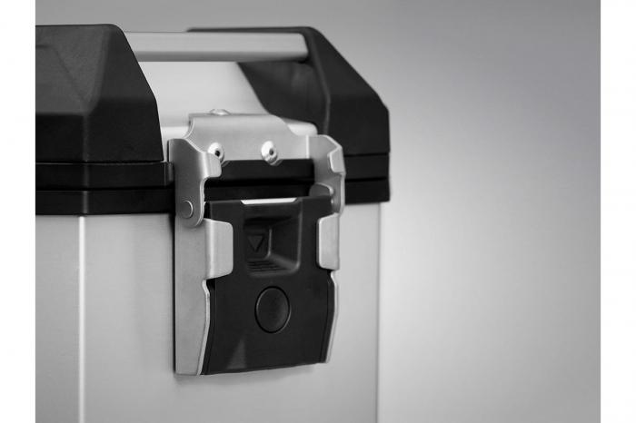 Side Case aluminiu TRAX ADV L 45 l. Stanga. Argintiu. 49x28x37 cm. 1