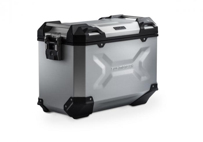 Side Case aluminiu TRAX ADV L 45 l. Stanga. Argintiu. 49x28x37 cm. 0