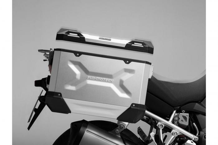 Side Case aluminiu TRAX ADV L 45 l. Stanga. Argintiu. 49x28x37 cm. 3