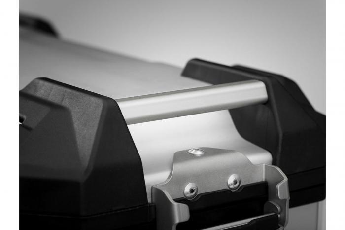 Side Case aluminiu TRAX ADV L 45 l. Stanga. Argintiu. 49x28x37 cm. 2