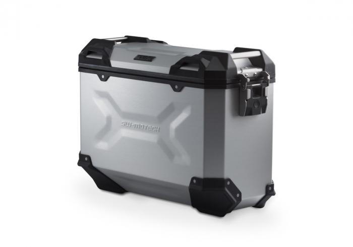Side Case aluminiu TRAX ADV M 37 l. Dreapta. Argintiu. 0