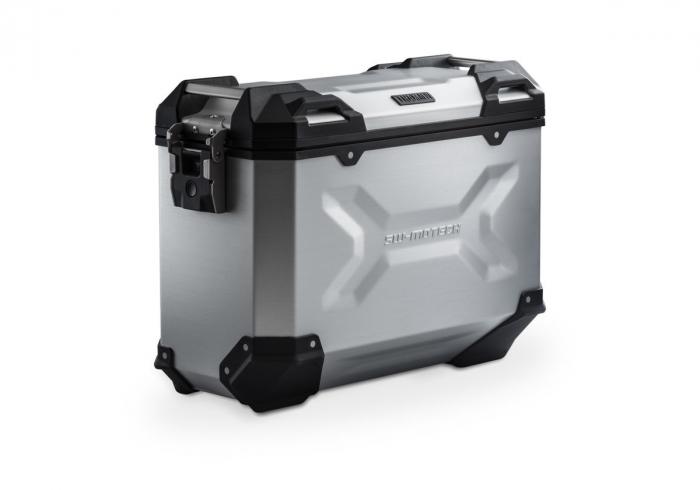 Side Case aluminiu TRAX ADV M 37 l. Stanga. Argintiu. 49x23x37 cm. 0
