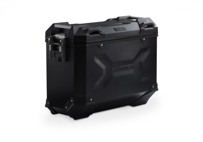 Side Case aluminiu TRAX ADV M 37 l. Stanga. Negru. 49x23x37 cm. 0