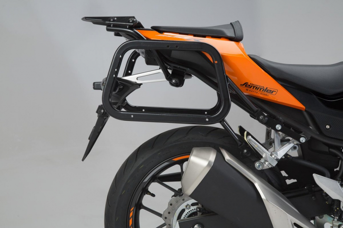 Sistem cutii laterale Trax Ion aluminiu Negru. 37/37 l. Honda CB500F / CBR500R (16-). [2]