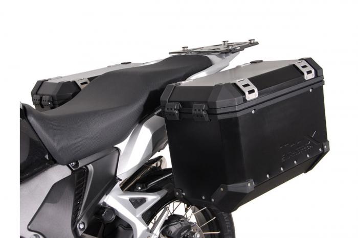 Sistem cutii laterale Trax Ion aluminiu Negru. 37/37 l. Honda Crosstourer (11-). [1]