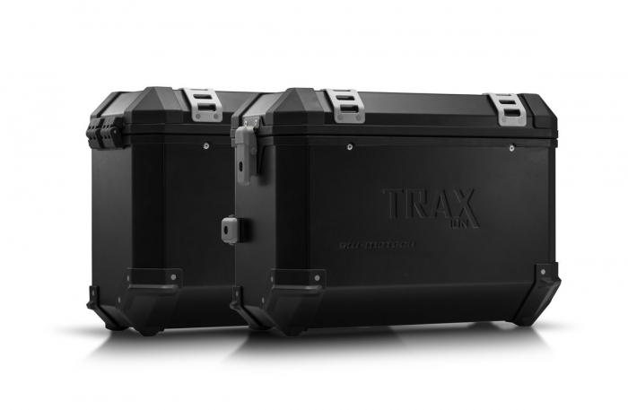 Sistem cutii laterale Trax Ion aluminiu Negru. 37/37 l. Honda VFR800X Crossrunner (15-). [0]