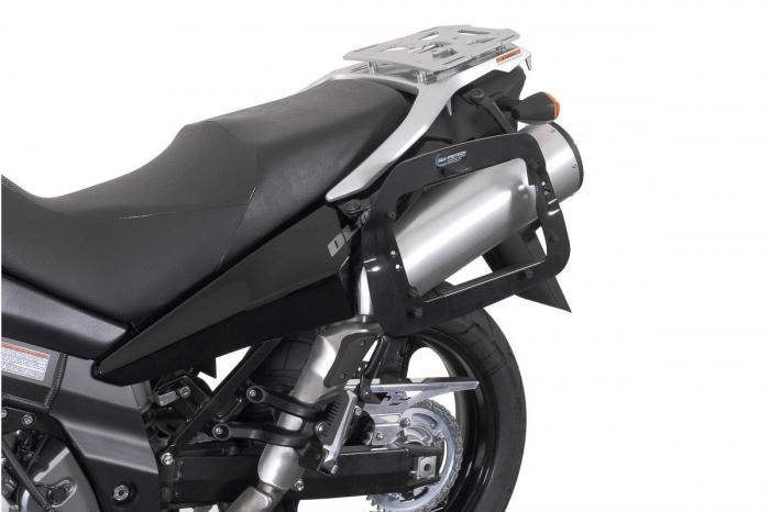 Sistem cutii laterale Trax Ion aluminiu Negru. 37 / 37 l. Suzuki DL1000 / Kawasaki KLV1000 [1]