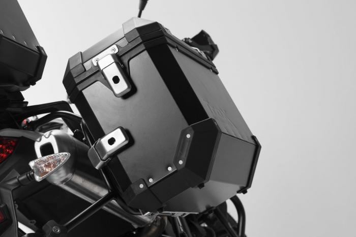 Sistem cutii laterale Trax Ion aluminiu Negru. 45/45 l. Husqvarna TR 650 Terra / Strada. [1]