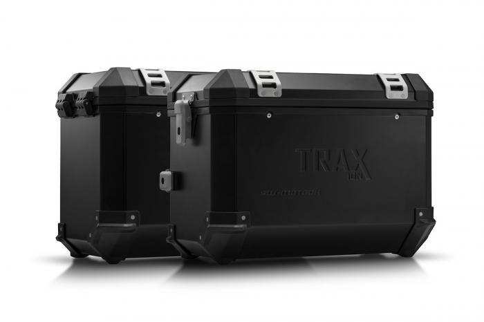 Sistem cutii laterale Trax Ion aluminiu Negru. 45/45 l. Husqvarna TR 650 Terra / Strada. [0]